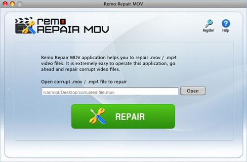 Repair Mov Mac - Select the Corrupt Mov File