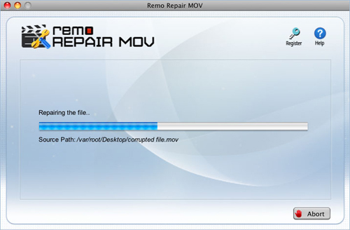 Fix MOV File on MacBook Air - Repair Process progress